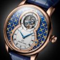 Jaquet Droz украсили часы в технике paillonné