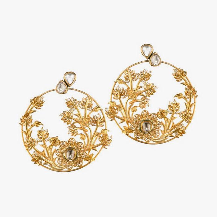 Серьги золота от Jyoti Kapoor
