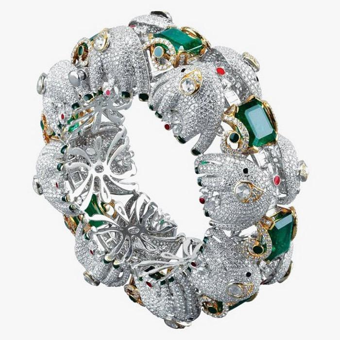 Браслет с изумрудами от Narayan Jewellers