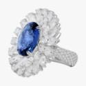 Кольцо Sutra с сапфиром и бриллиантами