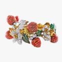 «Клубничный» браслет из золота и платины от Donald Claflin для Tiffany & Co.