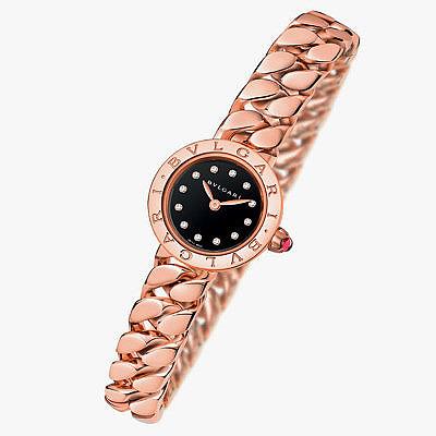 Часы из розового золота с лакированным циферблатом