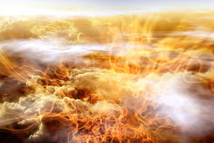 Возможно, именно так выглядят облака на Юпитере (иллюстрация). Источник: Victor Habbick Visions/Science Photo Library