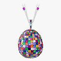 Подвеска Fabergé, инкрустированная мозаикой драгоценных камней