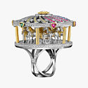 Кольцо Merry Go Round из белого и желтого золота от Sybarite