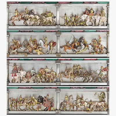 Сцены сражений из битвы при Иссе. Фигуры из серебра