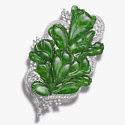 brooch jade