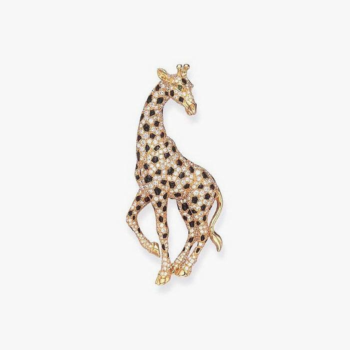 Брошь с виде жирафа от Cartier