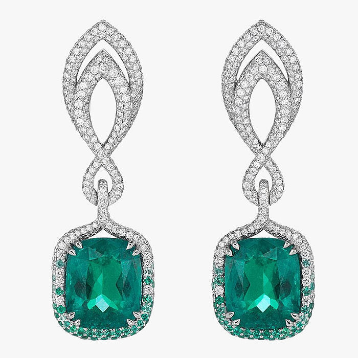 Серьги Chopard с изумрудами и бриллиантами