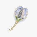 Брошь-цветок из золота с бриллиантами