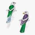 Кольца с птицами с разноцветными драгоценными камнями от Michele della Valle
