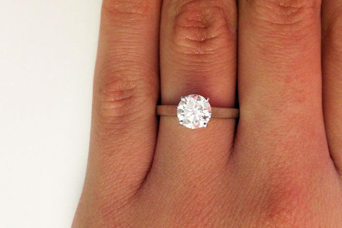 Кольцо с бриллиантом классической круглой огранки весом 1 карат. Фото: lovemyjewellery.net