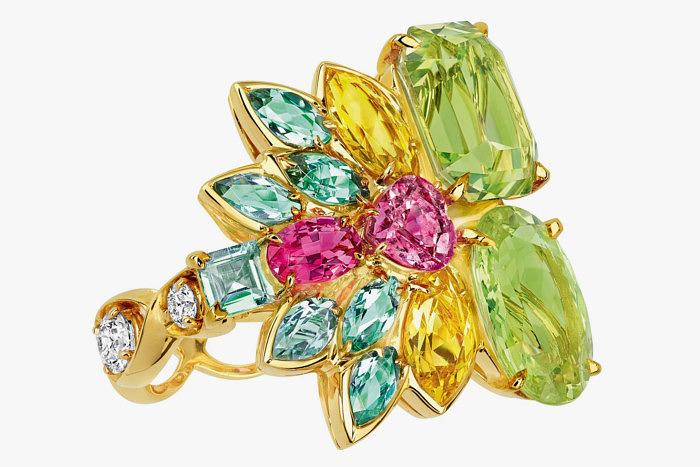 Кольцо Dior с разноцветными «Маркизами»