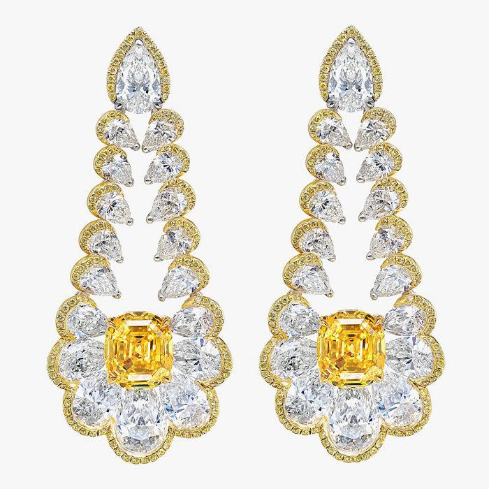 Серьги Chopard с желтыми бриллиантами