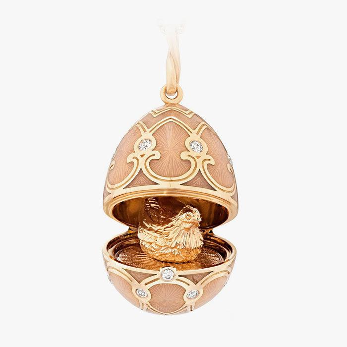 Подсевска Fabergé с бриллиантами и эмалью