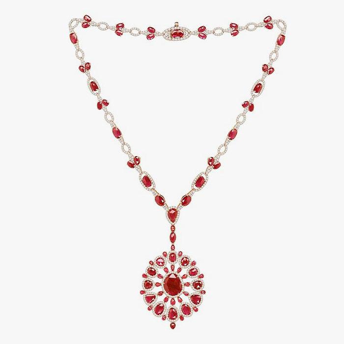 Ожерелье Sutra с бриллиантами и рубином
