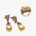 Серьги и кольцо из коллекции Vulcano от Roberto Coin