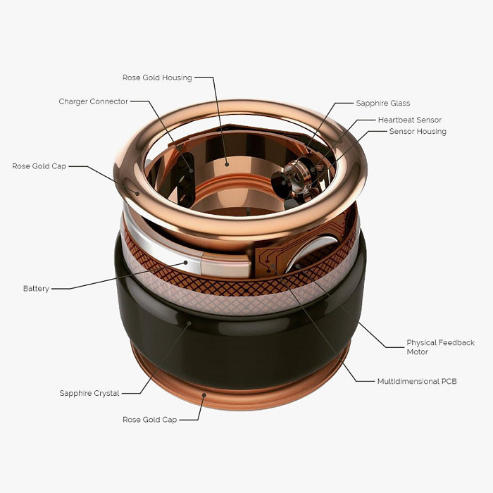 Внутреннее устройство кольца HB Ring от TheTouch