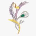 Брошь с изумрудами, сапфирами и бриллиантами от Boucheron