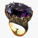 Кольцо с аметистом, бриллиантами и цаворитами от Jewellery Theatre