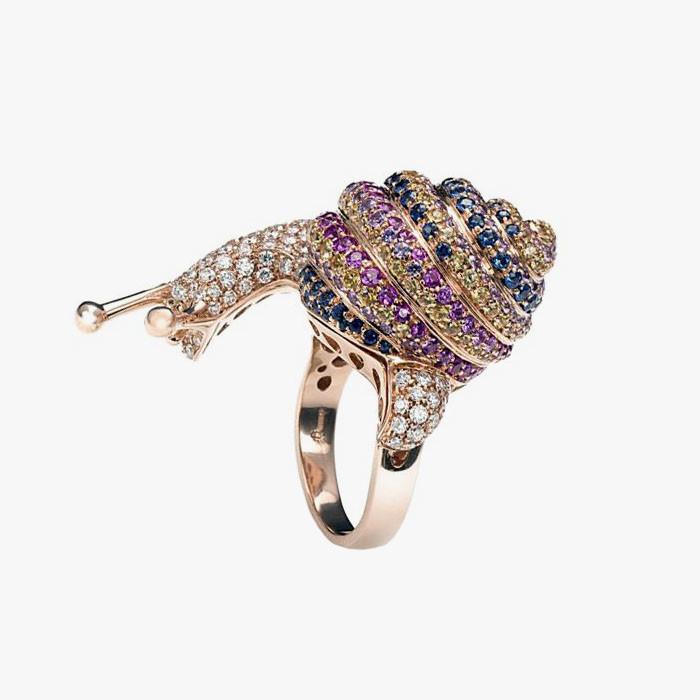 Кольцо с бриллиантами и сапфирами от New Italian Art