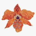 Брошь-орхидея от Paula Crevoshay