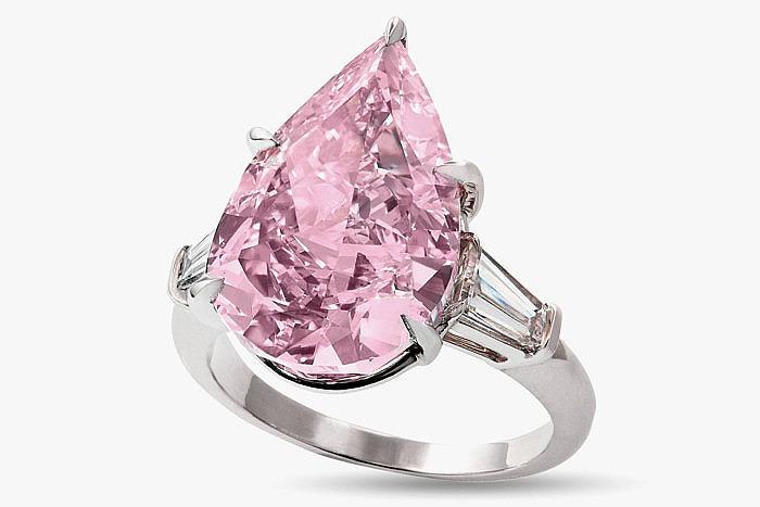 Кольцо с 9-каратным розовым бриллиантом