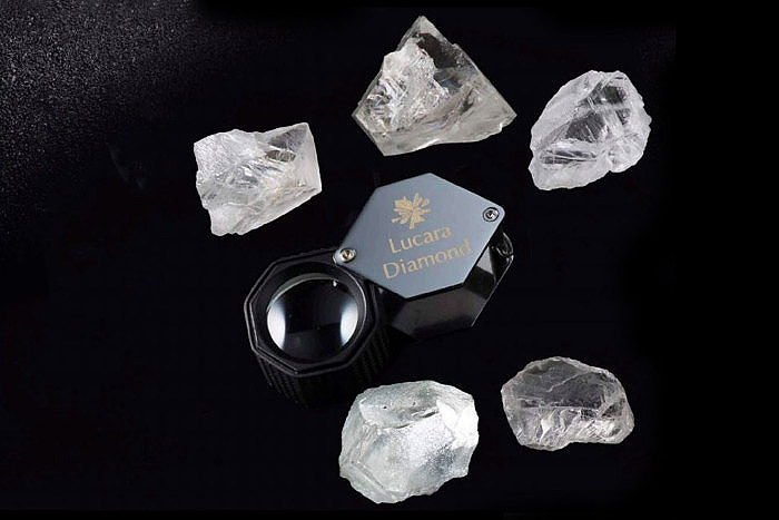 Алмазы Lucara Diamond, выставленные на тендере Karowe Diamonds Exceptional Stone. Фото: Lucara Diamond