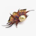 Брошь Oceania с жемчугом, сапфирами и бриллиантами от Autore.