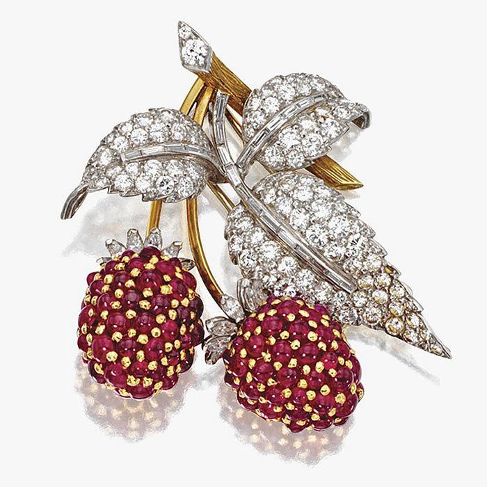 Брошь с бриллиантами и рубинами от Marchak