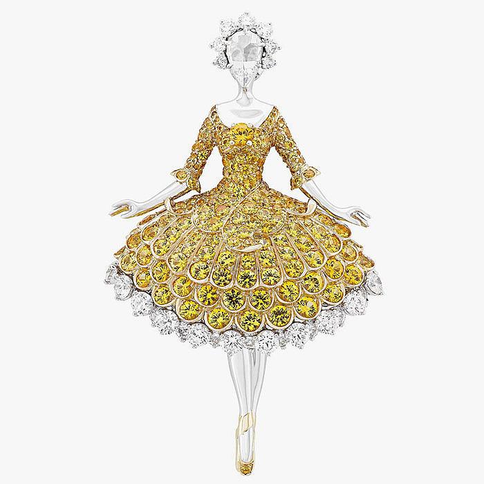 Брошь-балерина с бриллиантами от Van Cleef & Arpels