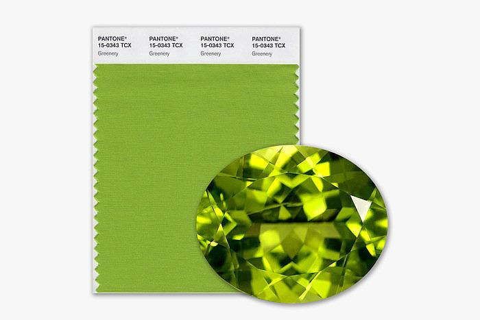 Оттенок Pantone Greenery
