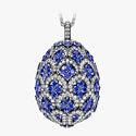 Подвеска-яйцо с сапфирами и бриллиантами от Fabergé