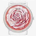 Часы Piaget Altiplano с лепестками розы из дерева и перламутра.