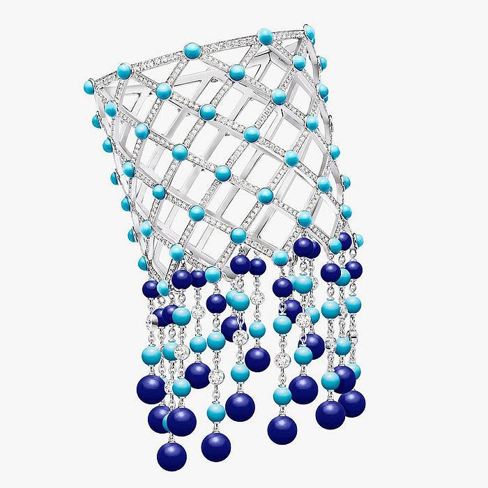 Браслет от Piaget с лазуритом, бирюзой и бриллиантами