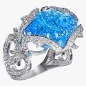 Кольцо «Девон» с бриллиантами и топазом от «Русских самоцветов»