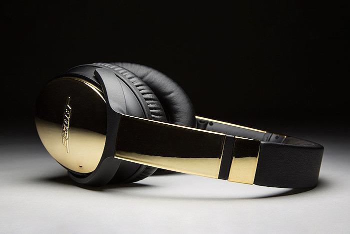 Наушники Bose QuietComfort 35 в 24-каратном золоте от ColorWare