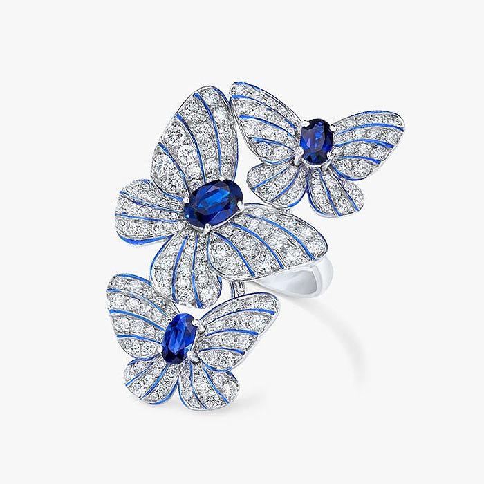 Кольцо с бриллиантами и сапфирами от Cellini Jewelers
