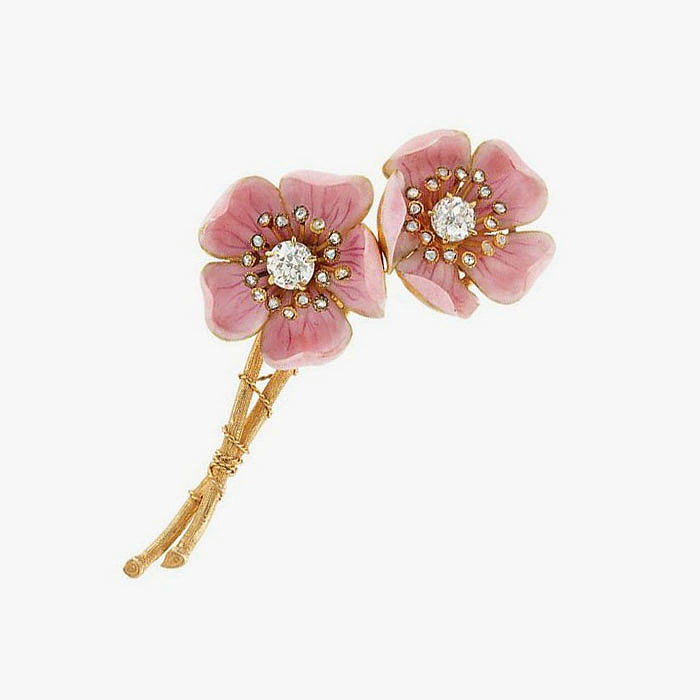 Брошь American Wild Rose от Paulding Farnham для Tiffany & Co.