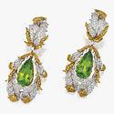 Серьги с хризолитами и бриллиантами от Buccellati
