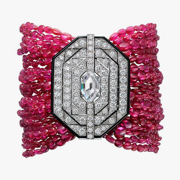 Браслет Cartier Royal с рубинами, бриллиантами и ониксом