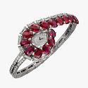Часы Cartier с бриллиантами и рубинами