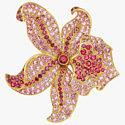 Золотая брошь с сапфирами и шпинелью от Tiffany & Co.