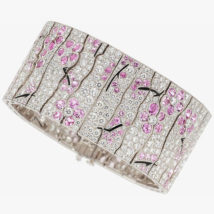 Браслет «Сакура» с сапфирами и бриллиантами от Tiffany & Co.