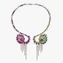 Колье с бриллиантами, цаворитами, рубеллитами, сапфирами и рубинами от Wendy Yue