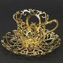 Филигранная посуда из золота и серебра от Wiebke Maurer