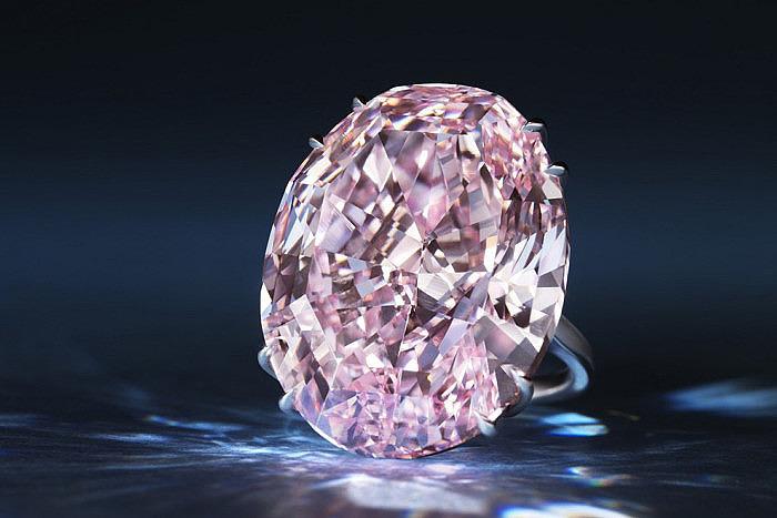 Бриллиант Pink Star весом 56 карат