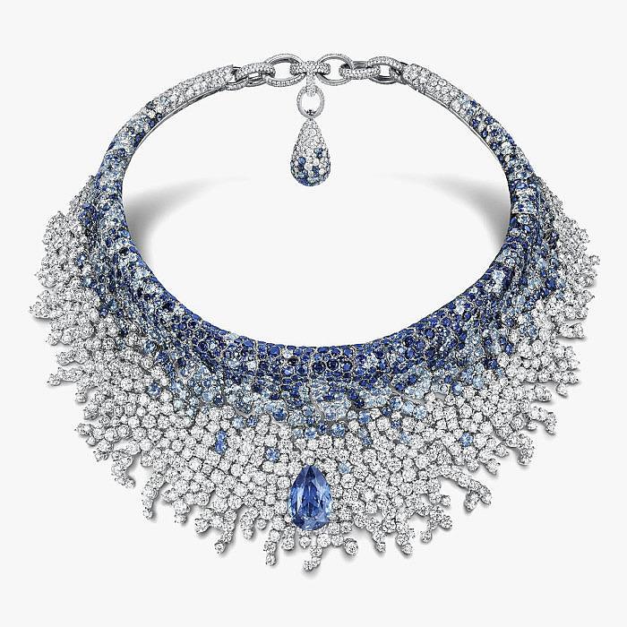 Колье с бриллиантами и сапфирами от de Grisogono