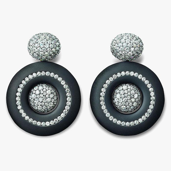 Серьги с бриллиантами старой огранки от Hemmerle