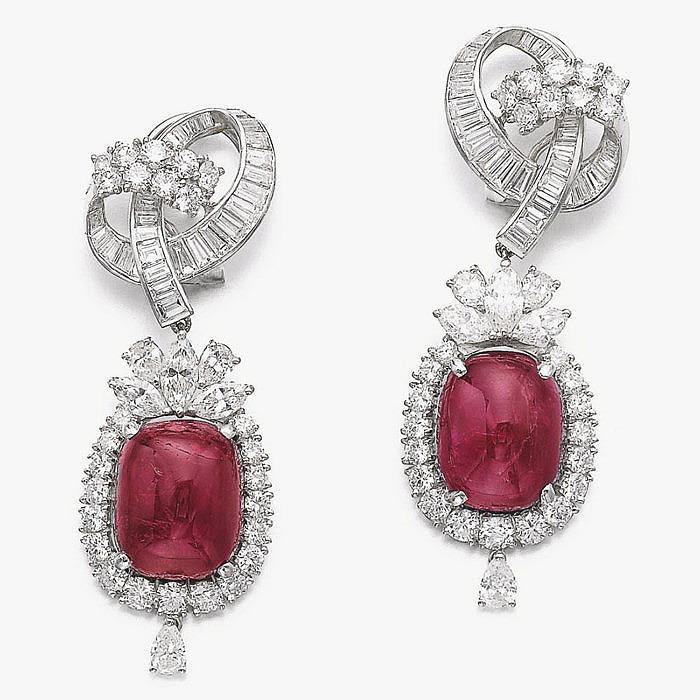 Серьги от Yanes с рубинами и бриллиантами